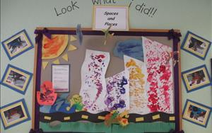 Artwork done by our Infant Classroom