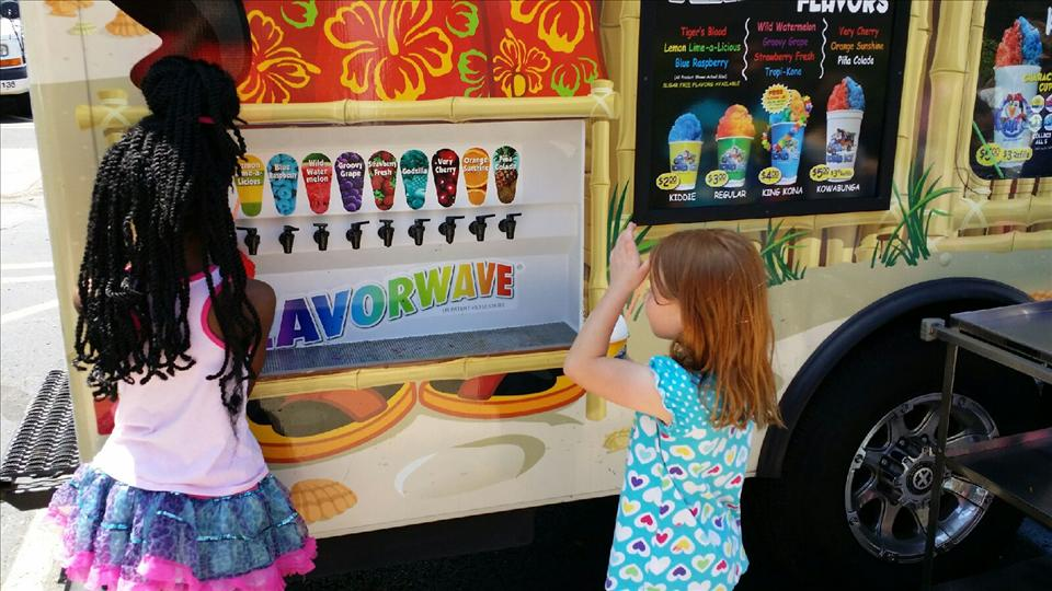 School Age students are enjoying snowcones from Kona Ice during our Summer Camp.