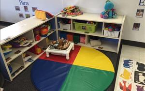 Our babies have so much fun playing with their toys in this soft and enriched area!