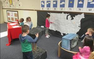 Our Pre-K Class is full of exciting learning opportunities. The weather forecast is looking great at Norman KinderCare Learning Center!