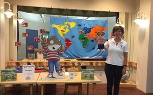 Author visits Knowledge Beginnings North to help promote her book and the importance of literacy.
