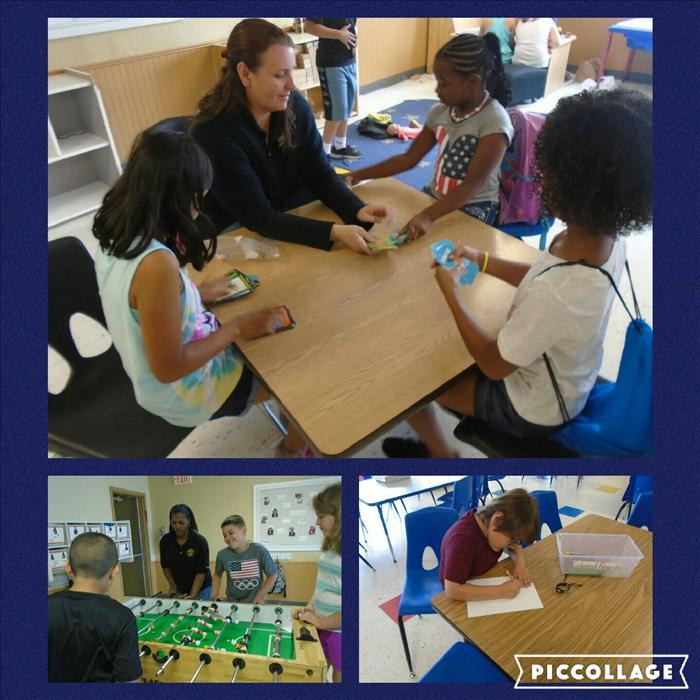 In our School-Age B classroom you can see Social-Emotional development being developed in these pictures. Ms. Emma and Ms. Jen are helping the children to foster the fairness that is so critical to succeeding in school.