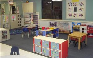 Discovery Preschool lends a print rich environment for their emerging preschoolers.