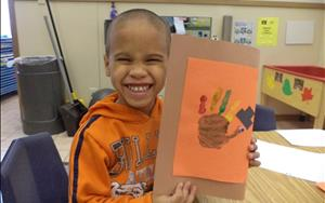 In Prekindergarten, I'm thankful for... all the smiles we share!