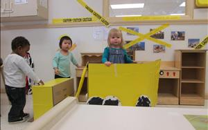 Braelyn, Myles, and Katya are on the construction site! (Toddler Room)