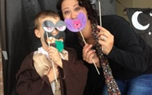 Silly monster faces were everywhere at our Trunk or Treat photo booth!
