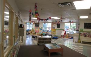 Our Preschool classroom decorated for a circus theme!