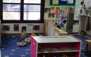 Our Toddler program starts laying the foundation of literacy and math concepts in a classroom setting for maximun exploration.
