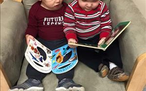 Babies love to read on their own!