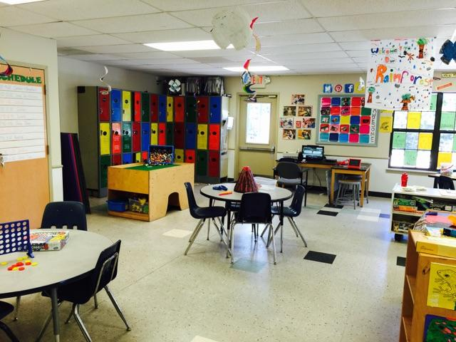 School-Age Classroom (for before- and after-school care during the school year and featuring break-time programs during school breaks.)