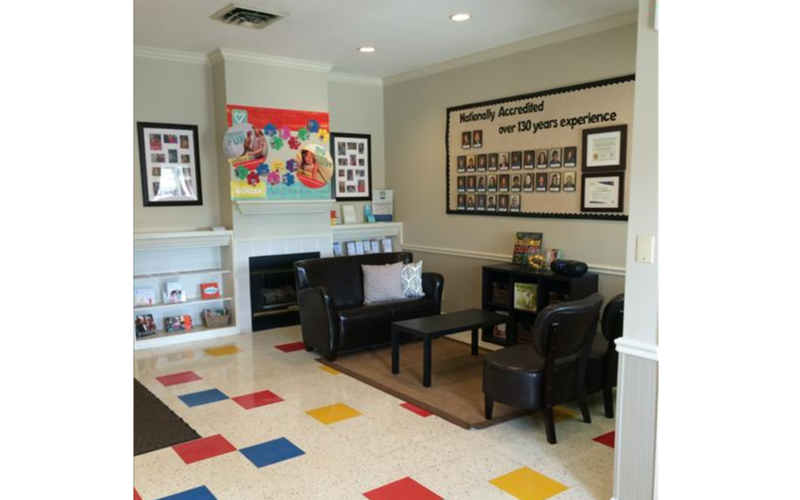 Our inviting area to talk wtih other families and of take a load off for a minute.
