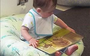 Early exposure to literacy starts in our Infant classroom
