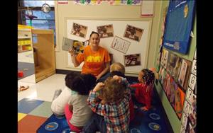 Reading aloud is a great way to build vocabulary and language skills which is why our Discovery Preschool teachers read to their class daily.