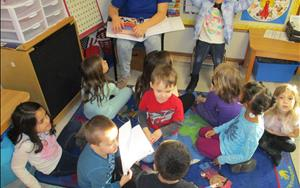 Our private Kindergarten room provides a strong foundation focused on building essential school readiness skills.  We provide small group and large group interactions, regular teacher-family communications, comprehensive reporting on individual child achievement through standardized tests and parent-teacher conferences.
