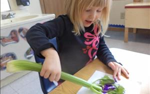 We can paint with celery... who knew!?