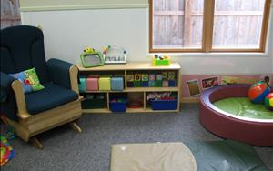 We have space for our infants to grow and learn.  We provide separate infant classrooms depending on your child developmental stage.  Our Infant A classroom is for infants 6 weeks to about 6 months, when an infant begins to crawl and become mobile.  This allows the infants in this room to have tummy time and to feel free to explore their world without the worry of another infant invading their space. While our Infant B class is meant for those infants who are about 6 months to about 12 months and who are crawling and cruising.  They are free to move about their own classroom to explore their world.