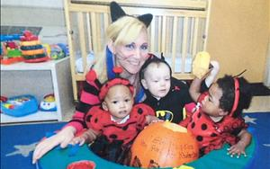 Infants during our Fall Festival with Ms. Danielle.