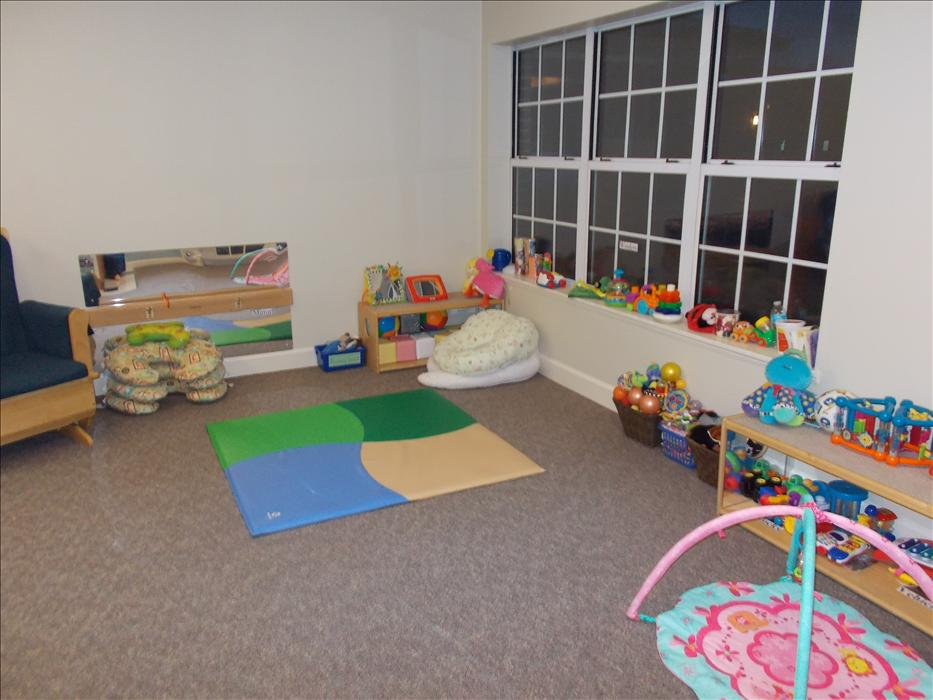 Our infants have plenty of space to crawl and play.