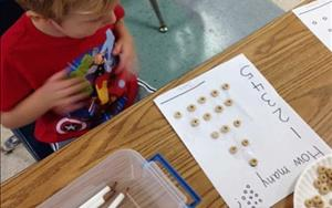 Preschoolers love math! In this activity they were counting Cheerios!