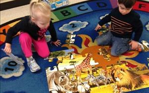 Preschoolers learn to work together to get things done!