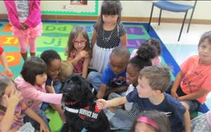 Pre-K meets Arthur the Service Dog for Pet Week