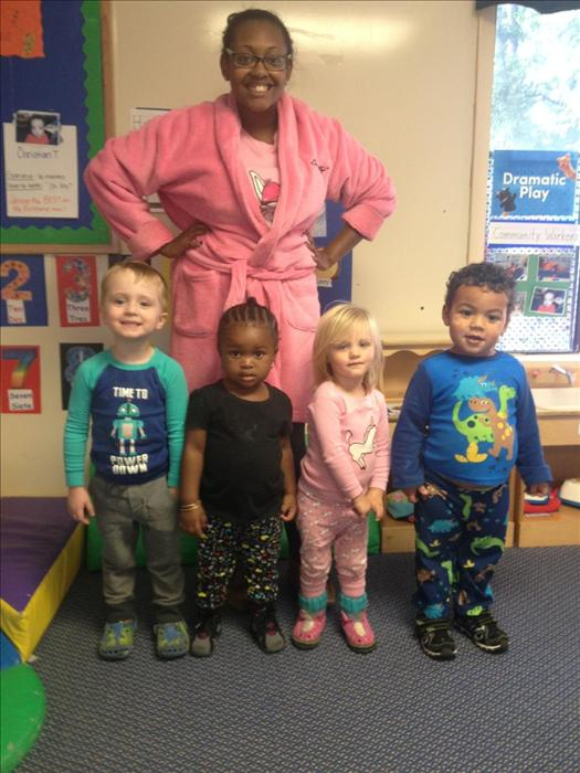 Pajama day with Ms Jasmine.