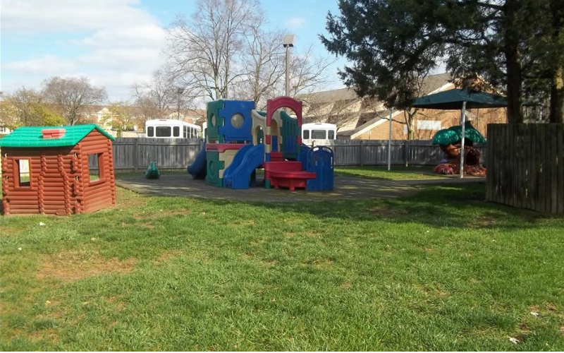 Our Toddler and Discovery Preschool playground is a safe and spacious place for young children to run and play.