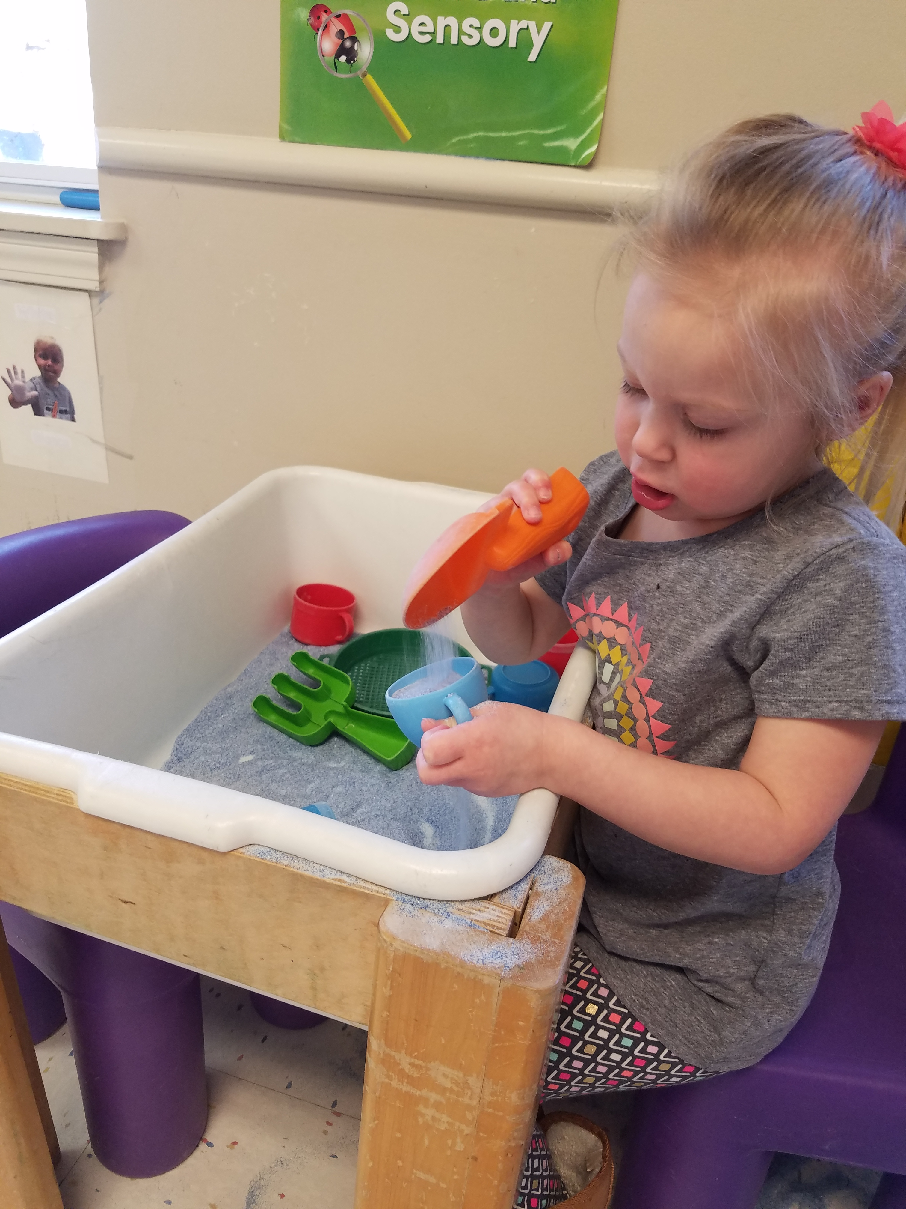 Exploring through sensory play.