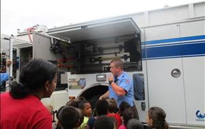 Our Prekindergarten class had a visit from our local fire department and learned about safety.