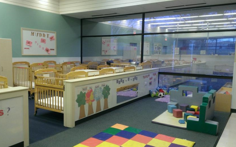 Our spacious Infant classrooms offer a least restrictive environment where children are free to explore the classroom.  The Early Foundations Infant curriculum is designed to promote learning through exploration.