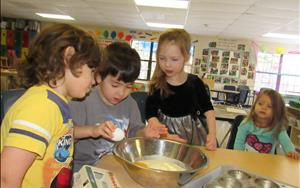 In Cooking Adventures, the children get to learn how to measure food items and make different treats. The children enjoy the finished product as well.