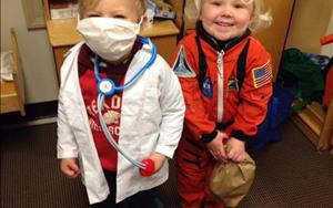 "Our preschoolers dressed up as their favorite community helpers during our ""Occupations"" theme!"
