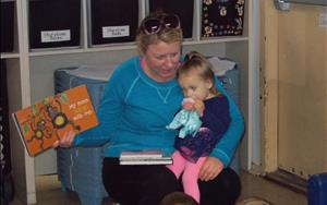 Parent Reader's Visit in the Toddler Classroom