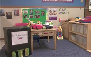 In Discovery Preschool, our children have many engaging learning centers, including dramatic play.