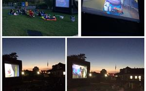 Family Backyard Movie Night!