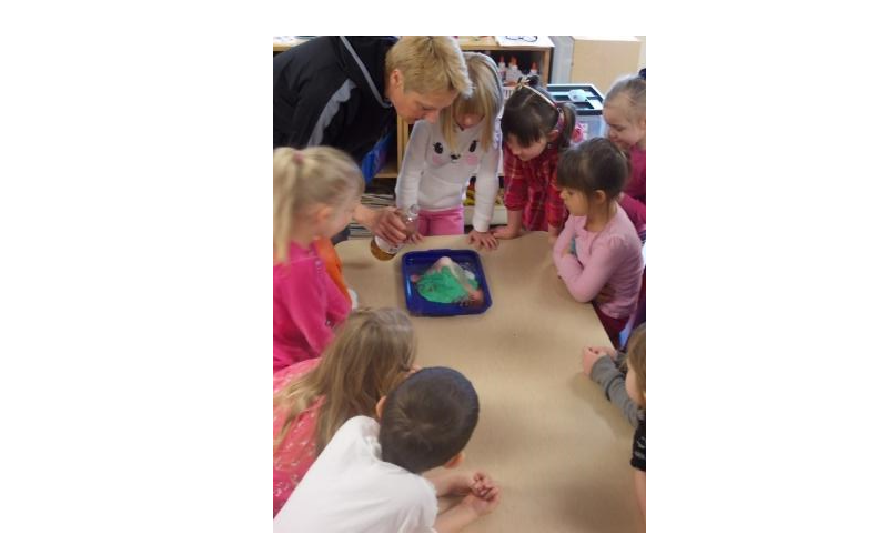 Science activities allow for hands on experience that teach cause and effect.
