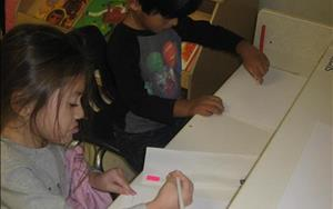 Writing in the preschool classroom.
