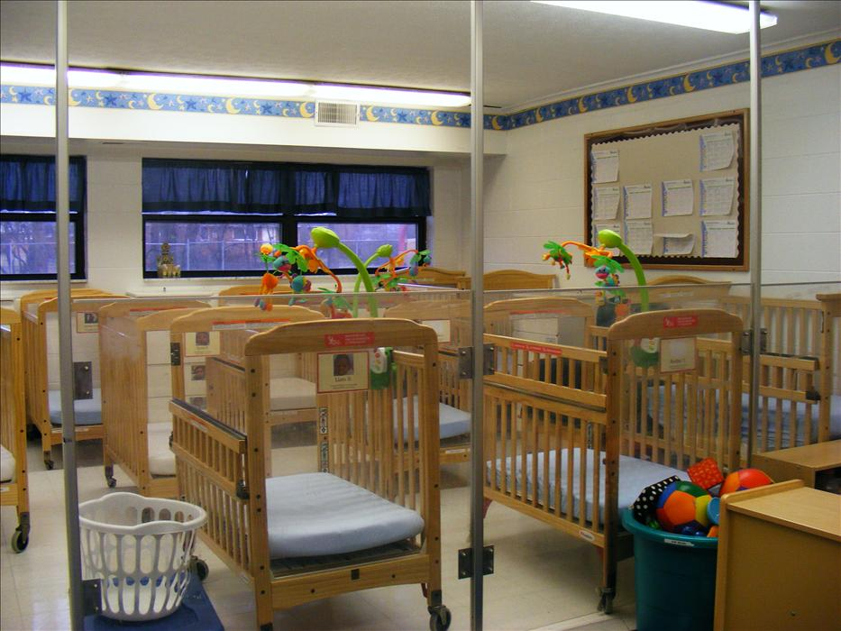 Infant room crib area