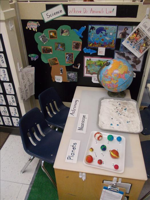 Private Kindergarten Science Table