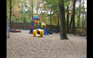 Spacious playground with tons of room to play.
