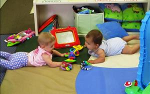 Our infants build relationships and create friendships with the children in their room. Watching these bonds happen between our young learners is amazing and we are so happy to be able to provide the environment to make it happen!
