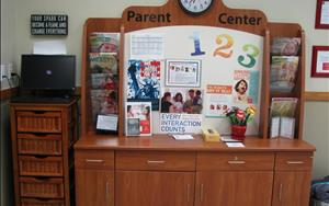 You will find the latest information about what's happening in our center and around our community here at our parent center in our lobby.