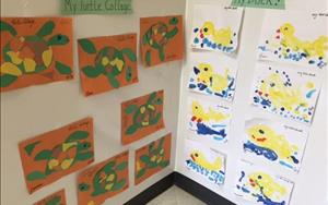 There's always fun and stimulating art projects in the Discovery Preschool classroom!