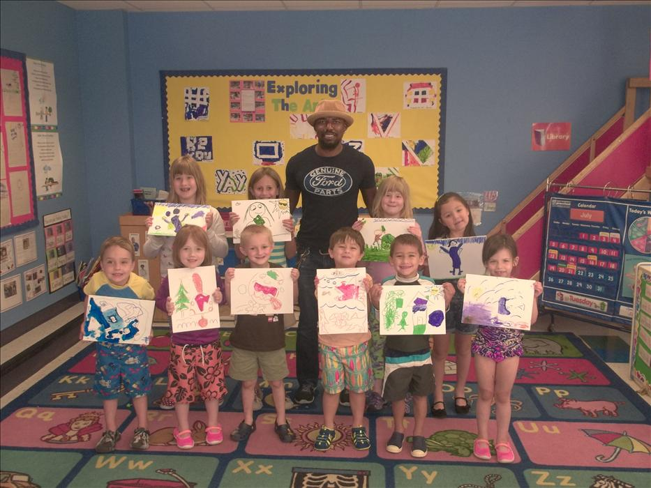 Our Pre-K and School Age children enjoyed a day of painting with local artist Guy Stanley Philoche.