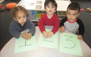 Our Discovery Preschool children are learning to count!