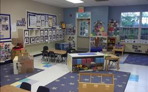 Our Preschool room is for ages 3-4, and gives our children plenty of space to explore and learn!