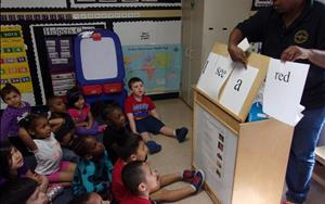 Prekindergarten Classroom learning to read!  Ms. Ann is the Texas School Ready certified teacher.