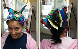 Each month we have special fun days for our children and teachers to enjoy. Miss Kayla's creative up-do for Crazy Hair Day!