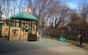 Toddler and Discovery Preschool playground.