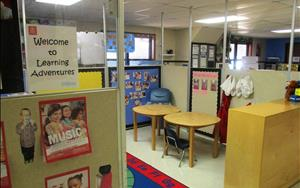 Our Learning Adventures classroom is located next to our lobby.
